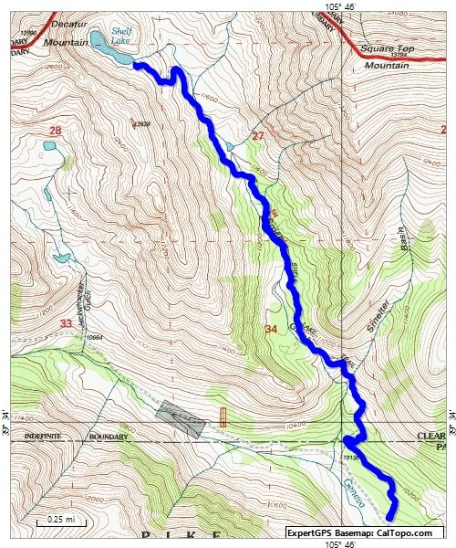 Shelf Lake Map