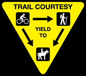 Traditional Trail Etiquette sign