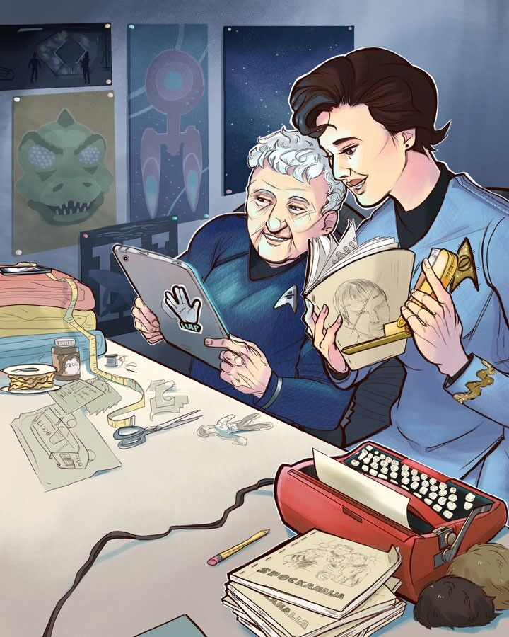 A 50-year Trekkie bestows Star Trek history upon the next generation: How fandom and fanfiction sparked the galaxy's most controversial romance