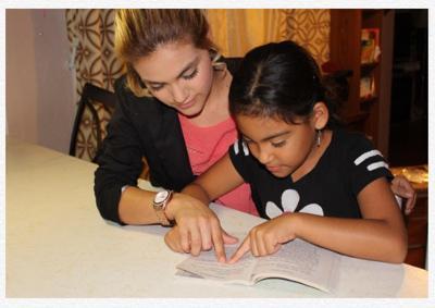 Laura Cortez durante su actividad como tutora