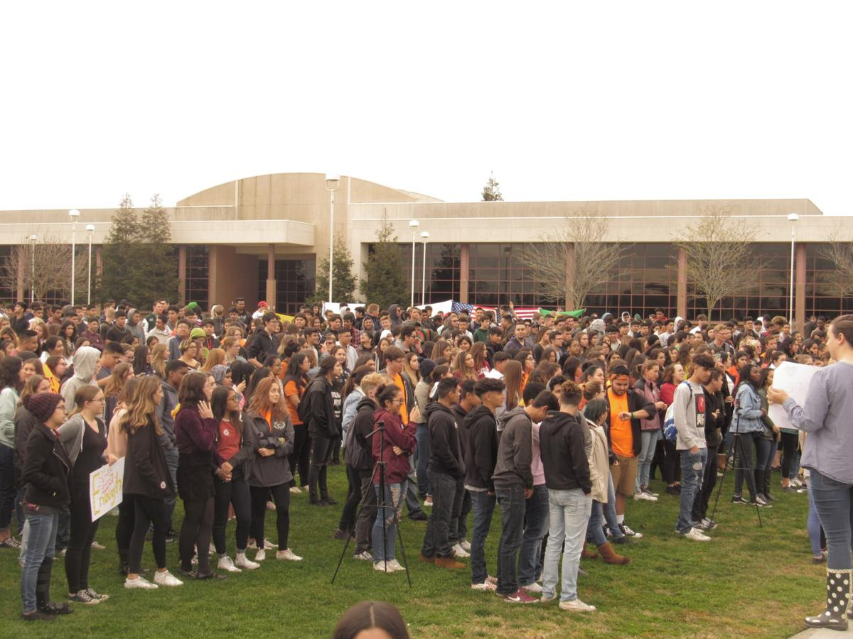 Students Gathering for National Walkout