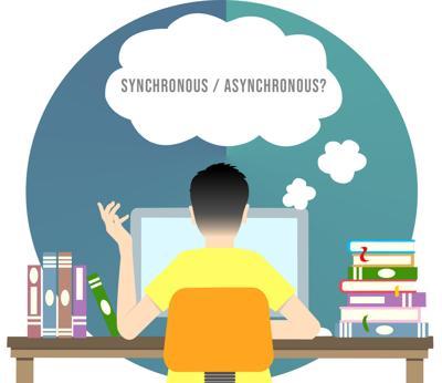 Synchronous/Asynchronous Graphic