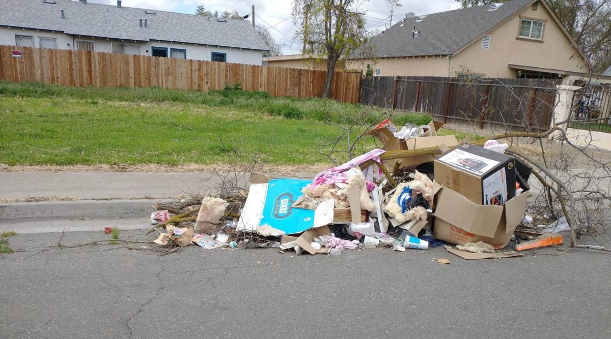 Trash Along the Roadside