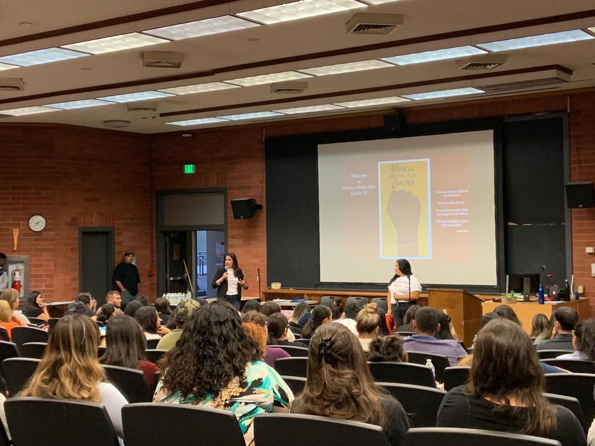 Dr. Berru and Naomie speaking