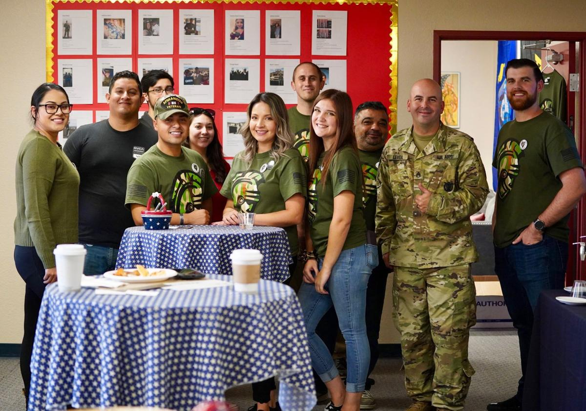Students and Veterans who celebrated at the Thank For A Veteran Event.