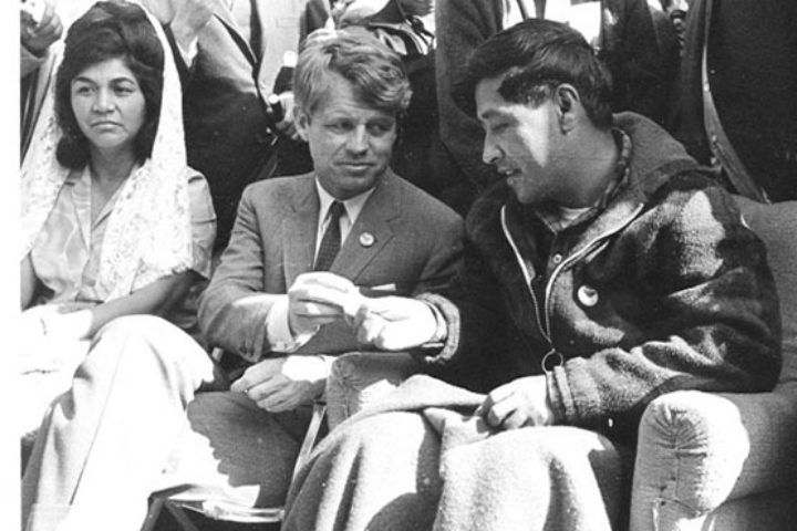 Cesar Chavez and Robert Kennedy.