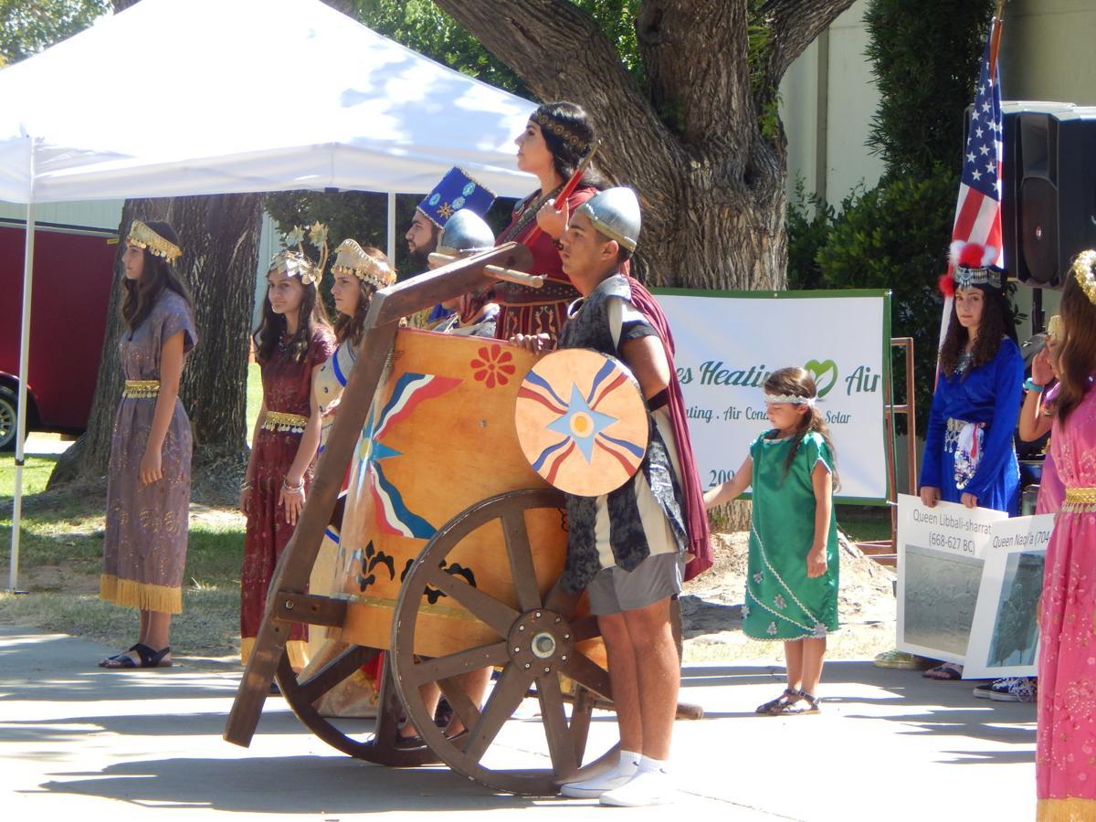 Queen Semiramis on her Chariot
