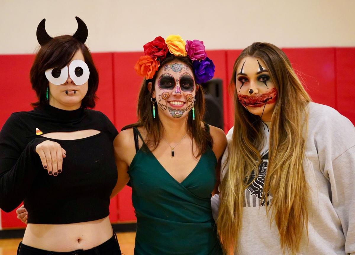 "Students that were competing for the category of ""Best Make-Up"""