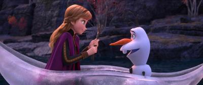 Anna and Olaf from Frozen II