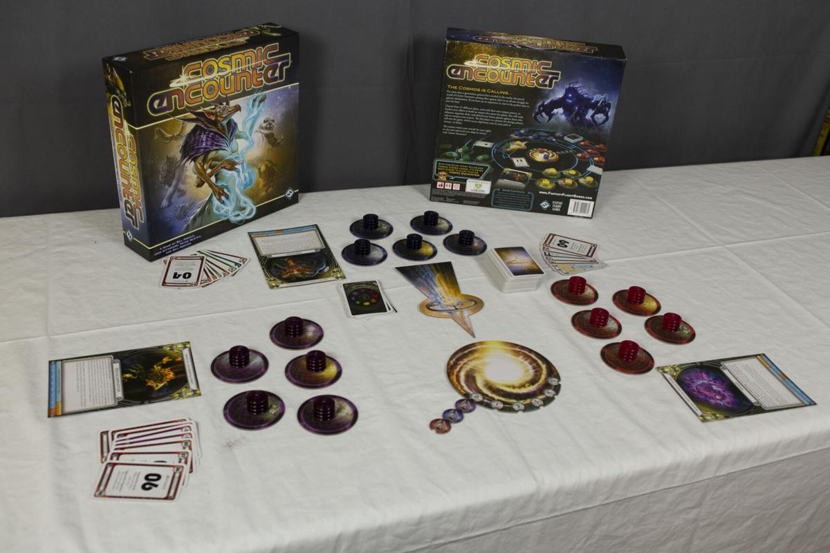 Cosmic Encounter Set Up For a Three Player Game