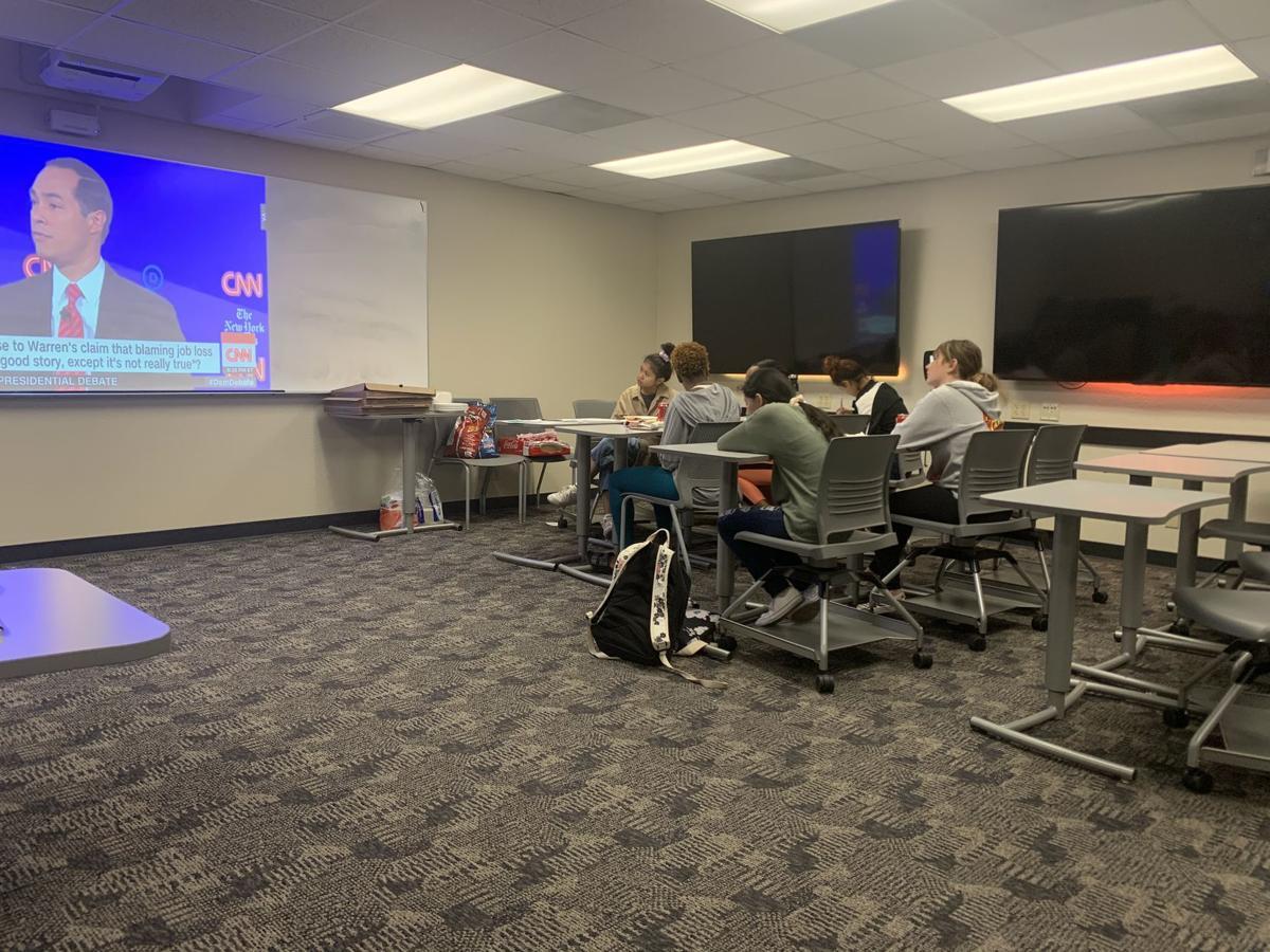 Students Watching Debate