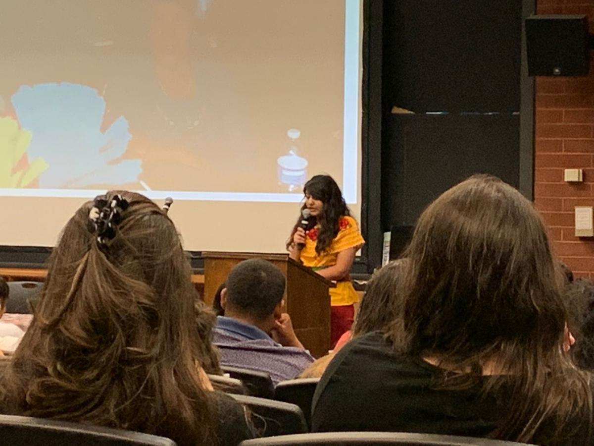 Julissa giving a speech