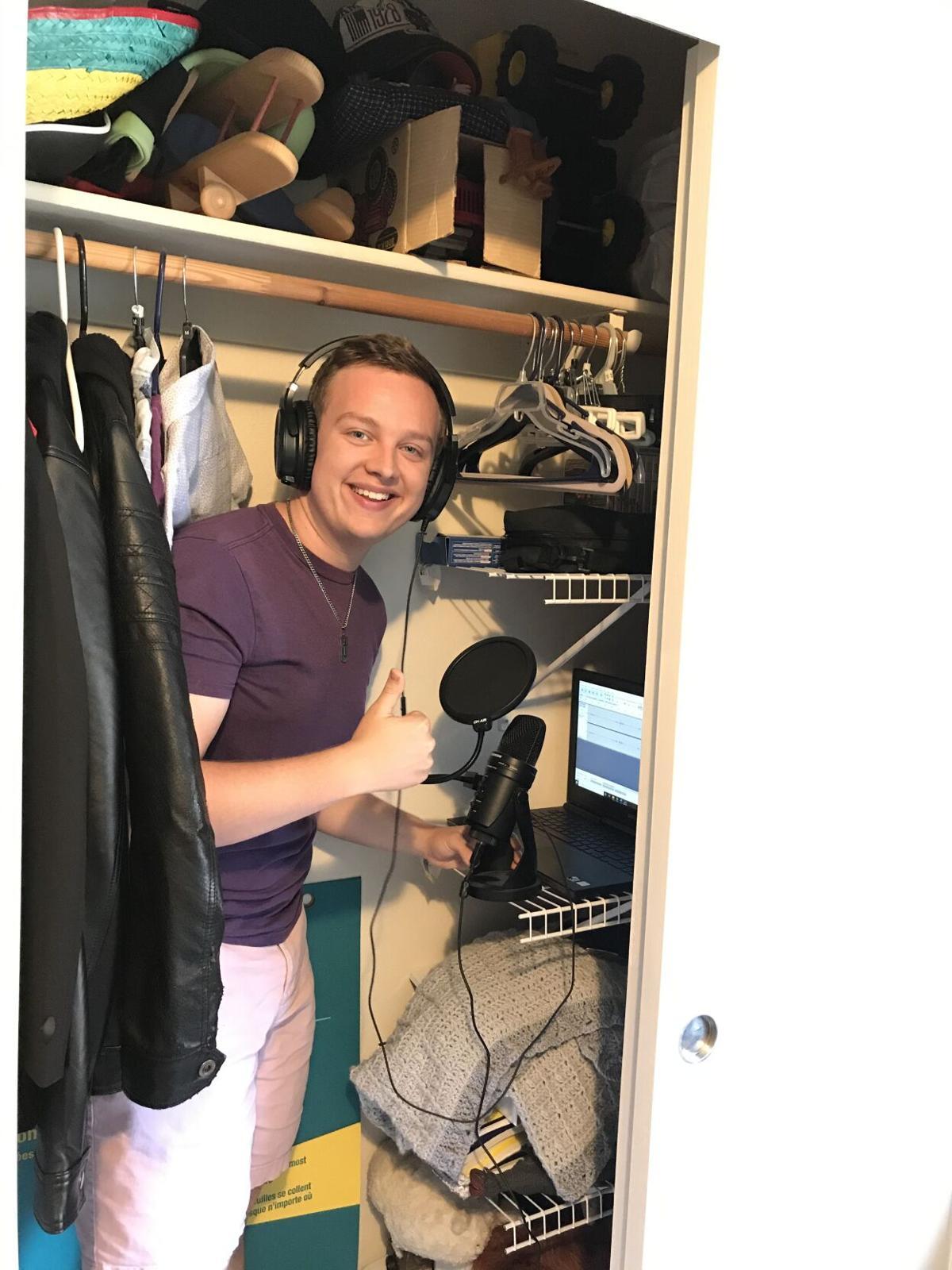 Senior Nathan Heisler Recording For Valley Voices