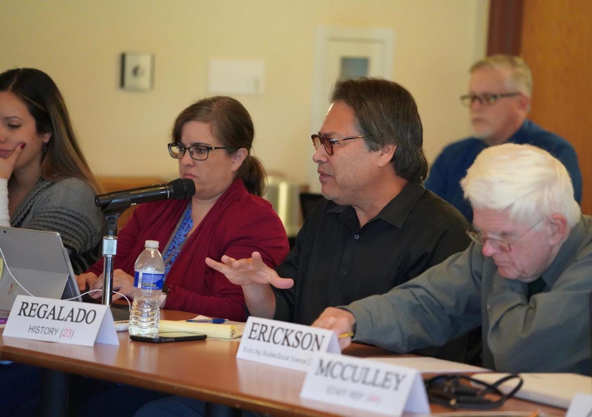 Professor Relegado expresses his comments to the Academic Senate