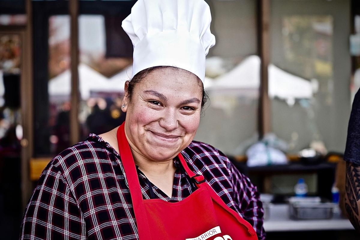 Stephanie Silva (Staff) participating in the Cooking Contest.