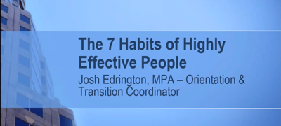 7 Habits of Highly Effective People Event Screenshot, Taken April 14, 2021