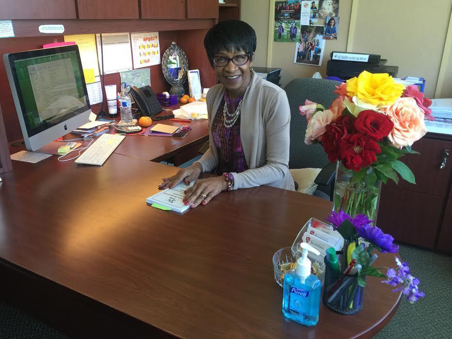 Wanda Bonnell in her office