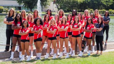 The CSU Stanislaus women's volleyball team picture