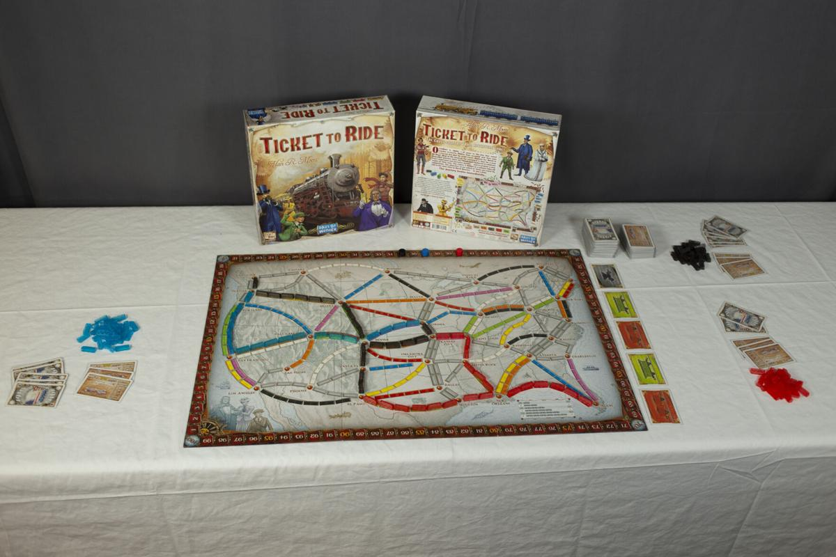 Ticket to Ride Set Up For Three Players