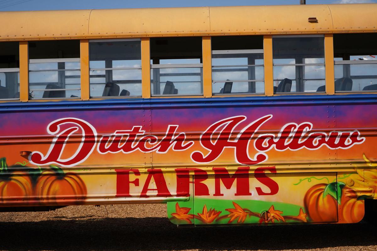 """A bus art mural reading """"Dutch Hollow Farms"""" [PRINT]"""