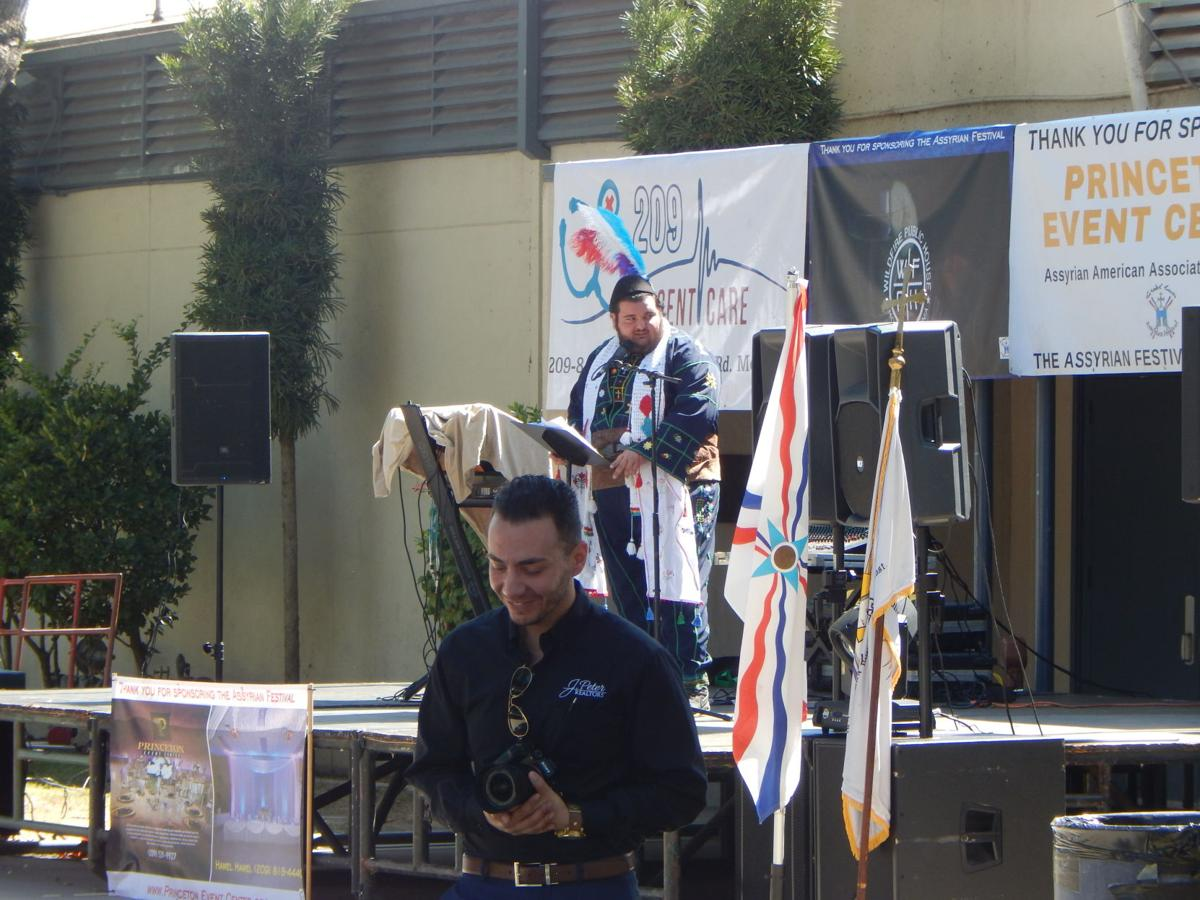 Deacon Gvargis Yaco giving a speech