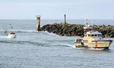 Coast Guard lends a tow