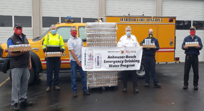 Harbor Fire receives drinking water for wildfire efforts