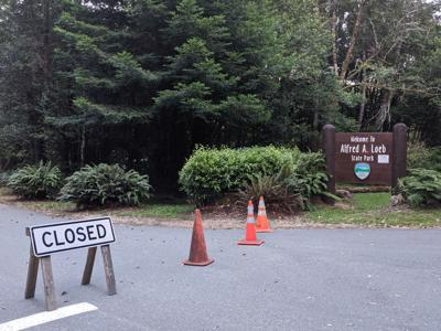 Alfred A. Loeb State Park closed