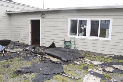 Storm damage to the Gold Beach Apostolic Church