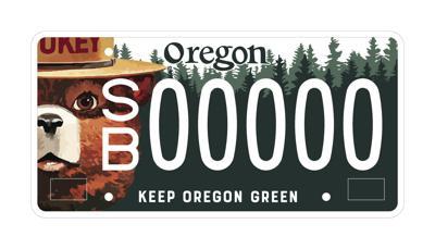Smokey Bear license plate