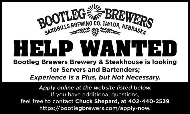 Bootleg Brewery Help Wanted