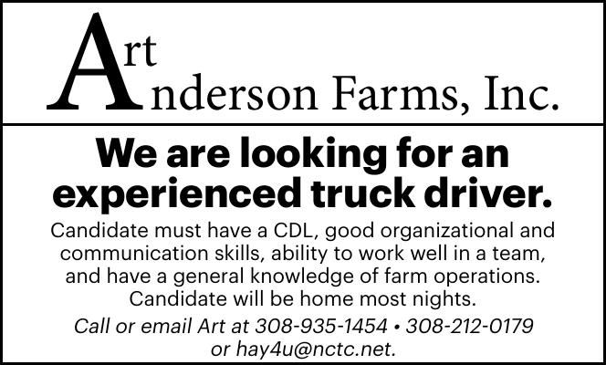 Help Wanted - Art Anderson Farms