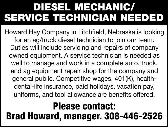 Help Wanted Diesel Mechanic