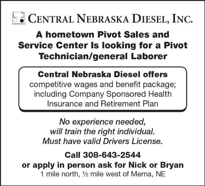 Help Wanted - Central NE Diesel