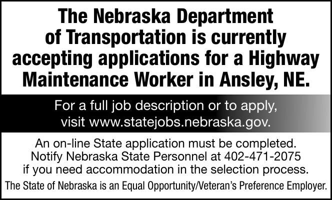 Nebraska Department Transportation - Ansley