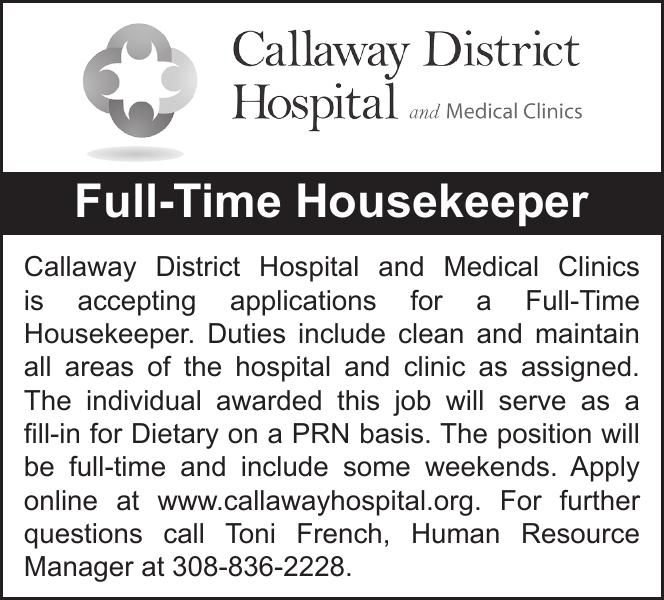 Callaway District Hospital House Keeper
