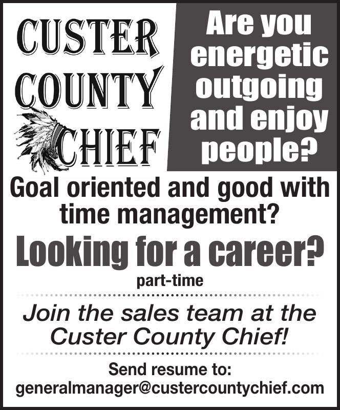 Sales Associate - Custer County Chief