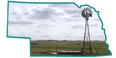 Nebraska outline windmill