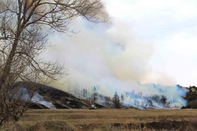 Prescribed burn smoke fire April 2019