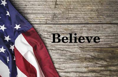 American flag Believe Donnis Hueftle-Bullock column Jan 2021