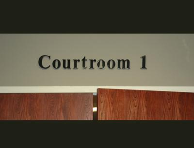 Courtroom 1 one District Court Aug 2020