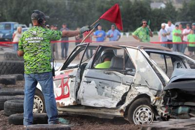 Demo Derby red flag 2016 Custer County Fairgrounds