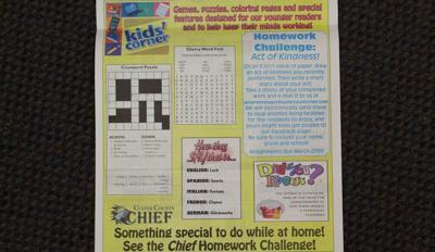 Kids' Corner Homework Challenge March 23 2020