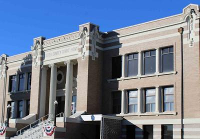 Custer County Courthouse close up Nov 2020