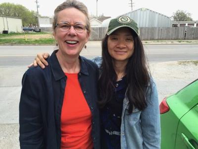 Laurie Richards Chloe Zhao April 2021 Oscars Nomadland