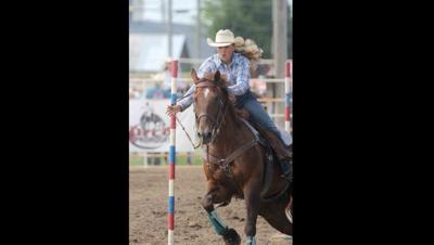Madison Mills of Eddyville state champion in Pole Bending 2019 nationals in Barrel Racing by placing 4th.
