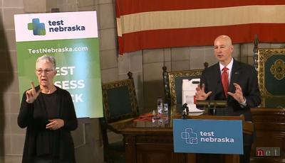 Nebraska Gov. Pete Ricketts Frances Beaurivage May 21 2020