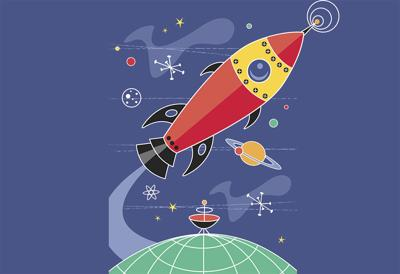 Rocket ship space