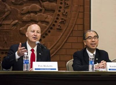 Governor Ricketts speaking at previous summit