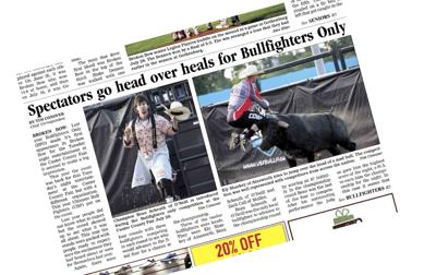 Bull fighting 2021 Tim Conover Custer County Fair coverage